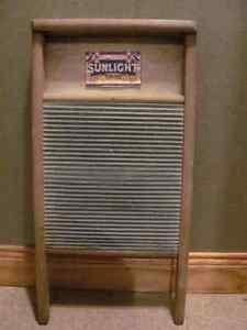 Vintage metal scrub board 12 x 24 inches $32