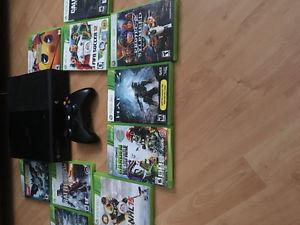 Xbox 360 with several games for sale!