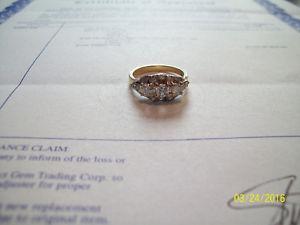 14K YELLOW GOLD DIAMOND RING 0.91ct. VINTAGE ESTATE.