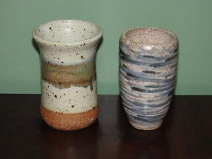 2 smaller POTTERY vases - $10 each or BOTH for $15