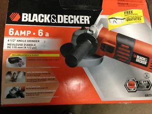 Black decker 4.5 angle grinder