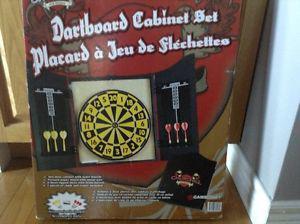 Churchill Dart Board Cabinet Set. Never Used