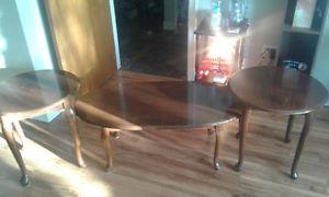 Coffee table with two matching end tables all for $