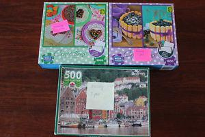 Confections  piece puzzles and Windsor 500 piece $5obo