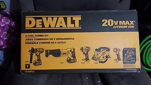 DEWALT 5 TOOL COMBO KIT NEVER OPENED SEALED