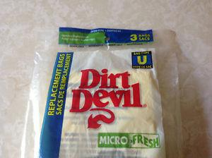 Dirt Devil Micro-Fresh Type U -Set of 3 Vacuum Bags