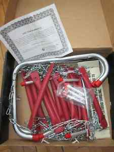 Fire Escape Ladder Two Story Steel Metal Safety