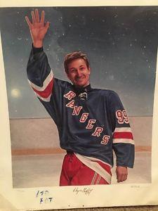 Gretzky print signed