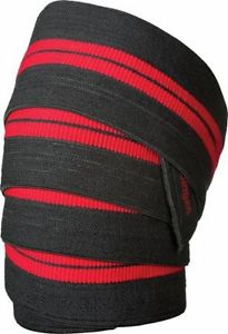 Knee Wraps, Black & Red