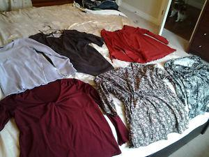 Large collection of Fall-Winter Maternity clothes Sz M-L