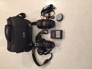 Nikon D Camera with mm lens,mm lens MINT