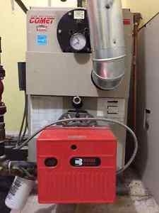 Oil Fired Steel Boiler, Riello Burner, SS Chimney, Oil Tank