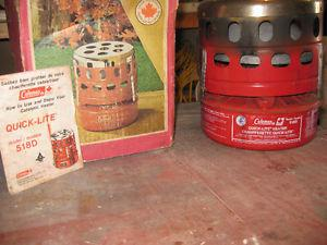 Older style camping heater