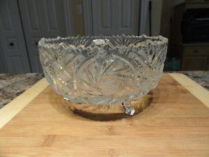 Polish Violetta Pinwheel Crystal 24% Footed Bowl