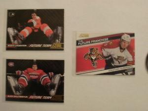 Score hockey Future Team and Franchise insert cards