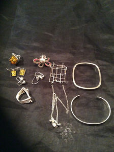 Sterling silver jewelry lot 925 and 950