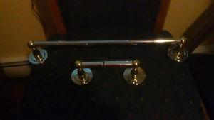 Towel Bar and Toilet Roll Holder