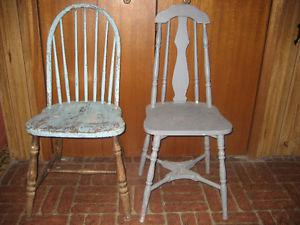 Two Antique Cottage / Country Style Chairs