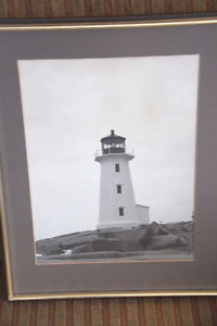 VINTAGE PEGGY'S COVE LIGHTHOUSE PHOTOGRAPH