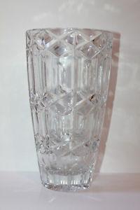 vintage crystal vase