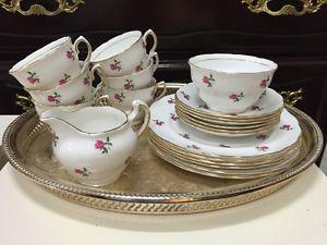 20 piece vintage Colclough bone china