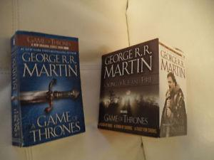 4 Game of Thrones books...in near perfect condition