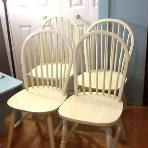 4- hint of lime wood chairs