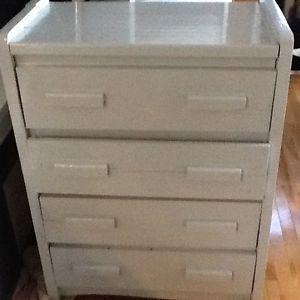 Grey rustic wood dresser