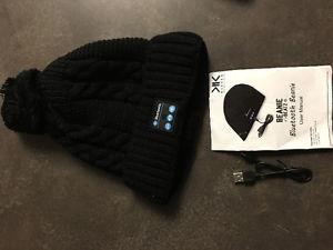 New wireless Bluetooth beanie hat headphones