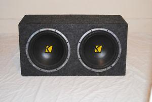Selling a 2-OHM Kicker Enclosed Subwoofer - $215 OBO