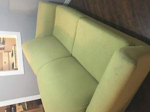 Green Couch and Chair(perfect for cabin)
