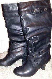 Leather dress boots for sale