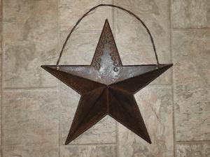 Barn star wall mail holder