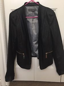 Faux Leather Jacket / Blazer Medium