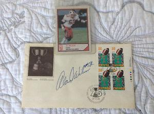 First day of football stamp autographed
