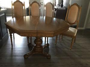 Kitchen or Dining Room Table and 6 Chaird