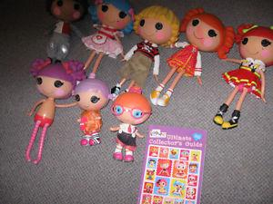 Lot of lalaloopsy dolls and collectors books