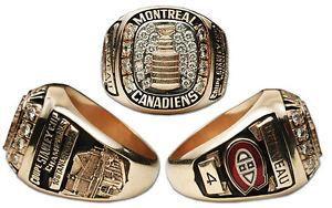NHL Stanley Cup Replica Ring Montreal Canadiens
