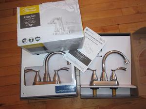 New bathroom faucet tap,drain brush nickel, chrome $60 each