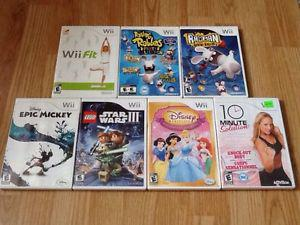 Various Wii games!