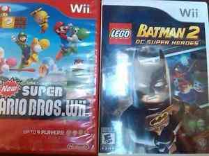 Wii new super mario bros, lego batman 2