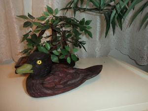 beautifully hand carved, one of kind Mallard, . asking