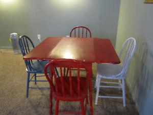 Antique table & chairs set