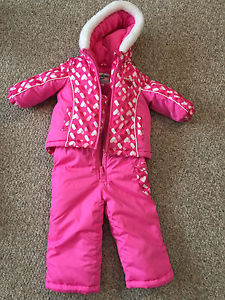 Baby girl snowsuits! New or excellent condition! $