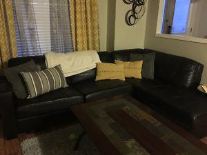 Sectional couch and cofee table