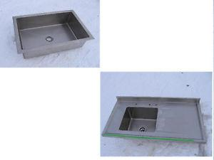 Stainless counter top with sink and Large ss sink