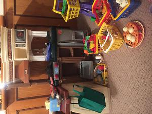 Step 2 play kitchen with extra food, toaster, cash register,