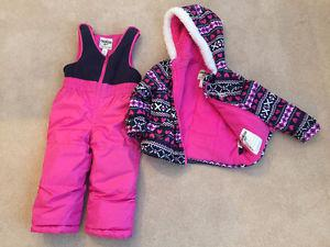 T2 Oshkosh children's winter jacket and snow pants