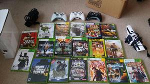xbox 360 with 18 games and kinect camera