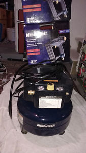 Air compressor 2 H.p 6 gallons and 2 air powered Brad Nailer